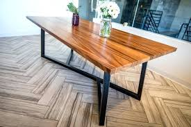 wood table with metal legs wonderful wooden table with metal legs bell blue intended in wood