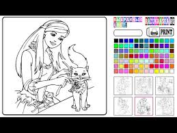 Small Picture Barbie Coloring Games Online Free YouTube