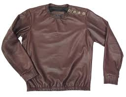 custom made custom made stretch leather sweatshirt