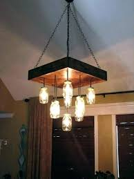 mason jar chandeliers for chandelier pallet jars pallets throughout ceiling light lamp ch mason jar