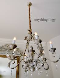 replace chandelier chain with rope