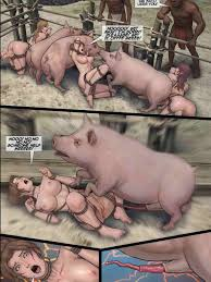 Pig porn with women