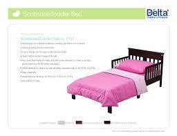 delta children scottsdale toddler bed