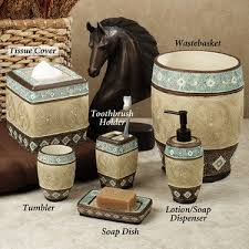 brown and blue bathroom accessories. Southwest Theme Blue, Brown And Tan Bathroom Accessories Blue B