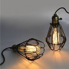 hot edison bulb vintage industrial lighting metal lamp pendant throughout cage light fixture idea 5