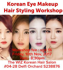 korean eye makeup hair styling hands on work