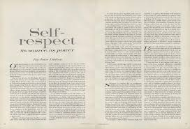 on self respect joan didion s essay from the pages of vogue  joan