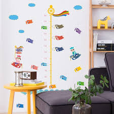 growth chart of carp wall decal sticker home decor diy removable art vinyl mural for kids room sofa cabinet qtm311 wall decals art wall decals canada from