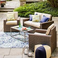 target threshold outdoor dining set. heatherstone 4-piece wicker patio conversation furniture set - threshold™ target threshold outdoor dining