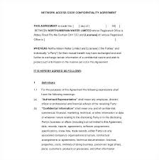 Sample Confidentiality Agreement Template Jordanm Co