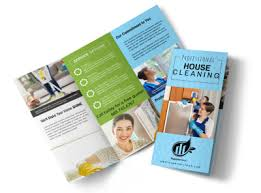 Cleaning Brochure Pro House Cleaning Tri Fold Brochure Template