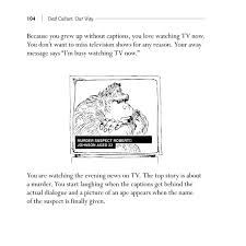 deaf culture our way anecdotes from the deaf community fourth ed   deaf culture our way page 104