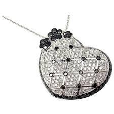 pasquale bruni lulu sapphire diamond gold large heart pendant necklace for