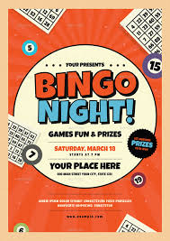 flyer for an event bingo night event flyer