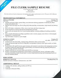 Clerical Resume Templates Custom Sample Clerical Resume Template Kor48mnet