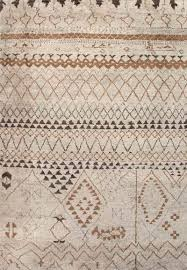 modern moroccan wool area rug elra modern moroccan ivory taupe wool
