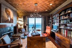 office man cave. Wonderful Office For A Man Cave That Doubles As Functional Home Office You Canu0027t Go Wrong  With Solid Wood Builtins To House Personal Library Wellworn Leather Chairs  To Office Man Cave N