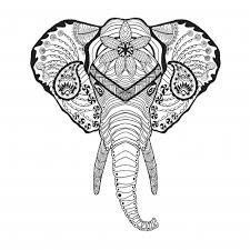 Elephant Doodle Coloring Page Com Mehndi Pages Chronicles Network