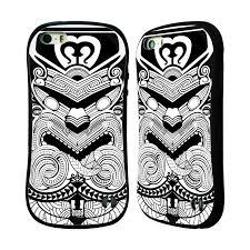 Head Case Silikonplast Odolný Obal Na Mobil Apple Iphone 55s Vzor Maorské Tetování Motivy černá A Bílá Válečník