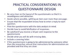 Considerations When Designing A Questionnaire Louis Cohen Lawrence Manion And Keith Morrison Ppt Download