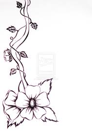 Vine Flower Design Flower Vines Drawings Black And White Flower And Vine By