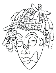 Mask Coloring Pages 612792 African Mask Coloring Page Download Free