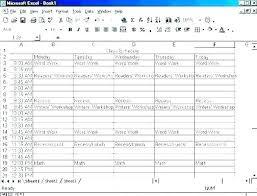 Sports Schedule Template