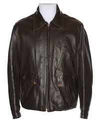 vintage 1940s brown kurland leather horsehide jacket xl