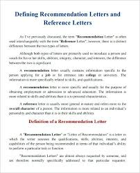 Free Letter Of Recommendation Template For College Character Reference Template Free Sample Letter For College
