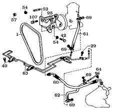 land cruiser power steering box pump brackets belts hoses 40 brackets belts and hoses