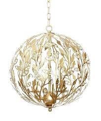gold orb chandelier winter golden pendant light fixture