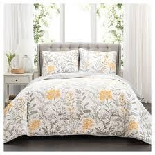 Yellow : Quilts : Target & Yellow Aprile Quilt Set 3pc - Lush Decor Adamdwight.com