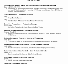 Tour Manager Resume Fantastic Productionger Resume Samples Template Best Collection 81