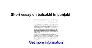 short essay on baisakhi in punjabi google docs