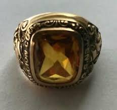 Jostens Class Ring Size Chart Details About Jostens Quarter Million Dollar Mens 14k Yellow Gold Ring Size 13