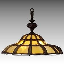 american bent slag glass chandelier early 1900 s