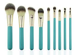 eco plete natural foundation eye makeup brushes professional set 9pcs