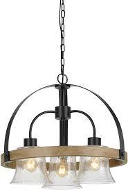 cal fx 3662 3 bell contemporary black wood mini chandelier lighting loading zoom