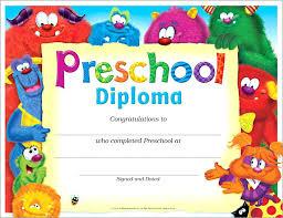 Preschool Graduation Certificates Diplomas To Print Kindergarten