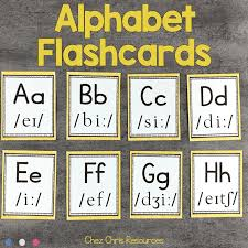 Alphabet flashcards in uppercase and lowercase for your kindergarten! Alphabet Flashcards Chez Chris Resources