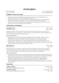 Standard Format For Resume Resume Blank Format Sample Resume Format Resume Blank Format