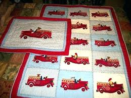 truck crib bedding fire sheets set pottery barn tow baby