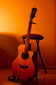 Guitar With Stand Hd - 910x1366 ...