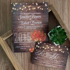 rustic wedding invitations with free response cards Rustic Wedding Invitation Cards rustic wooden string light mason jar fall wedding invites ewi395 rustic wedding invitation cardstock