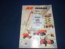 jlg heavy equipment manuals books for lift jlg 600a 600aj lift vehicle parts book manual prior to s n 0300069000