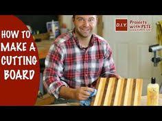learn how to make a butcher block cutting board with diy pete we made a cutting board out of select hardwoods walnut cherry and maple