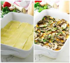 fresh vegetable lasagna with homemade