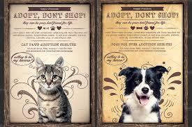Pet Poster Pet Adoption Flyer Template Flyer Templates Creative Market 6