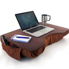 jumbo brown faux leather lap desk with pockets nice lap desks for your laptop or