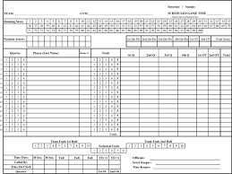 Basketball Score Sheets Printable Basketball Score Sheets Download In Pdf